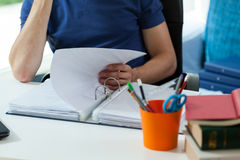 Studying at home Stock Image