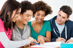 Studying Homework Together Royalty Free Stock Photo