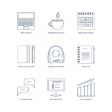 Studying, learning, distance and online education icons Royalty Free Stock Image