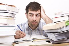 Studying man Stock Image