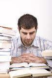 Studying man Stock Photo