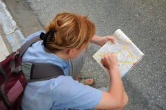 Studying Map stock photography
