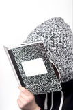 Studying Marble Notebook Royalty Free Stock Photo