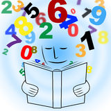 Studying Mathematics Shows Educating Learn And Schooling. Reading Mathematics Meaning College Training And Learn Stock Photography