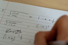 Studying Maths Stock Photography
