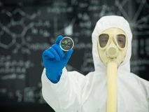 Studying microorganisms in the lab Royalty Free Stock Images