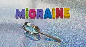 Studying migraine stock images