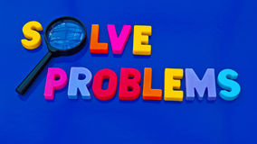Solving problems stock photo