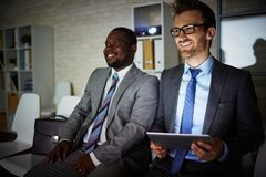Studying in office Royalty Free Stock Image