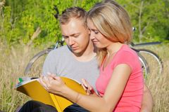 Studying outdoor stock photos