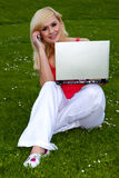 Studying outdoors. Royalty Free Stock Photography