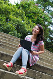 Studying in a park Royalty Free Stock Photography