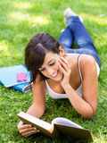 Studying in park Stock Images