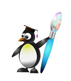 Studying penguin Stock Image