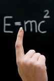 Studying Physics. Learning the theory of relativity. Shallow depth of field Royalty Free Stock Photography