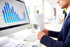 Free Studying Sales Chart Stock Photography - 100951942