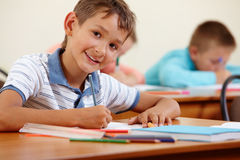 Studying at school Royalty Free Stock Images