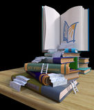 Studying school books. back to school concept background Stock Image