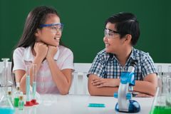 Studying science Royalty Free Stock Images