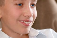 Studying sight of boy - teenager Stock Photography