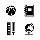 Studying. Simple Related Vector Icons Royalty Free Stock Photos