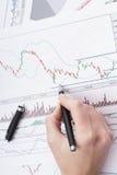 Studying statistics Stock Image