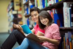 Studying students Royalty Free Stock Photography