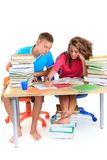 Studying Teenagers Stock Images