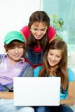 Studying teens Stock Images