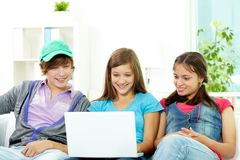 Studying teens Stock Photo