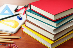 Studying and textbooks. Stock Photography