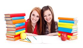 Studying together Royalty Free Stock Images