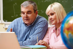 Studying together Stock Photos