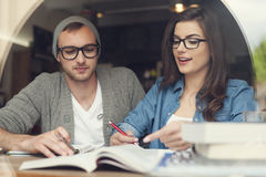 Studying together Royalty Free Stock Photo