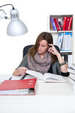 Studying woman Royalty Free Stock Photo