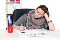 Studying woman Royalty Free Stock Images