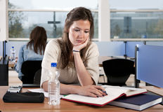 Studying woman Stock Images