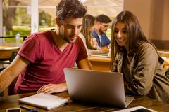 We love studying together Stock Images