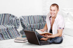 Studying young man Royalty Free Stock Images