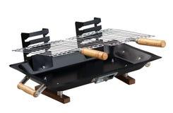Stufa in bianco del barbecue Fotografie Stock Libere da Diritti