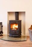 Stufa burning di legno Fotografia Stock