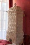 Stufa ceramica con i modelli Fotografia Stock Libera da Diritti