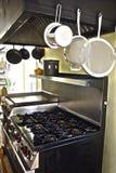 Stufa in cucina Immagine Stock