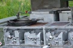 Stufa di cottura della cucina dell'esercito Immagine Stock