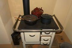 Stufa di cucina antiquata fotografia stock libera da diritti