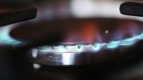 Stufa di gas video d archivio