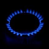 Stufa di gas come fuoco blu Fotografie Stock