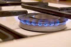 Stufa di gas, fresa del gas Fotografia Stock Libera da Diritti