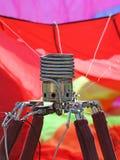 Stufa di gas per riscaldare l'aria nel pallone gigante immagini stock libere da diritti
