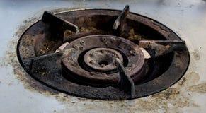 Stufa di gas sporca Immagine Stock Libera da Diritti